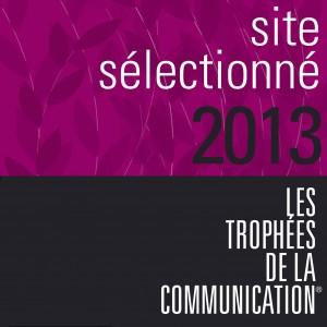 Site sélectionné 2013 pour les trophées de la communication